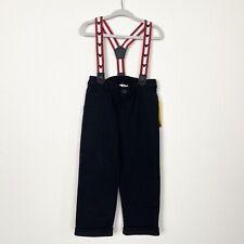 NWT Disney Baby Boys Sz 12-18 Months Mickey Mouse Black Pants Suspenders