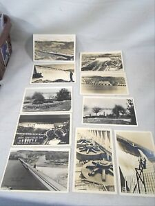10 RPPC Real Photo Postcard Grand Coulee Dam By Ellis & Bureau of Reclamation