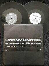 Horny United x Sash vs Boney M - Somebody Scream Ma Baker 2 x 12'' PROMO 1999 EX
