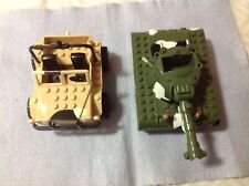 VINTAGE 1998 DSI TOYS, CAMO JEEP AND TANK, LEGO