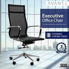 Back Mesh Chair Office Executive High Meeting Boardroom Ergonomic 3YR Wty