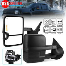 Tow Mirrors for 07-13 Chevy Silverado Power Heat Smoke Cover Turn Signals Backup