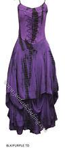 Jordash Purple &  Black Tie-Dye Laced Bodice Dress Boho Festival Pagan Freesize