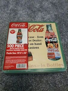 Coca Cola 500 Piece Jigsaw Puzzle Vintage Still Sealed Metal Tin