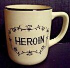 Vintage HEROIN Coffee Cup Mug * Japan * Death Skull & Crossbones