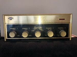 CALRAD SA-12B Tube Amplifier, missing fuse holder, nice but untested.