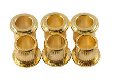 Kluson Guitar Tuner Bushings • USA • 8.85 mm OD / 6.48 mm ID • Gold (6)