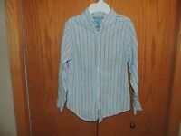 Boy's The Children's Place Stipped Dress Shirt Button Down Size L 10-12
