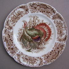 Johnson Brothers Windsor Ware Wild Turkeys Salad or Dessert Plate ENGLAND