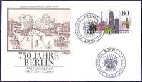 Frg 1987: Berlin 750 Years! FDC Der No. 1306 With Bonner Ersttagsstempeln! 155