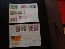 ALLEMAGNE RDA 2 fragments (devant de lettre 197?) - timbre stamp germany (cy1)