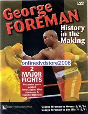 GEORGE FOREMAN - HISTORY IN THE MAKING (2 Major Fights) BOXING DVD (NEW SEALED)