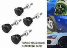 4 Black Push Button Bonnet Hood Pin Lock Clip Kit Car Quick Release Bumper Latch