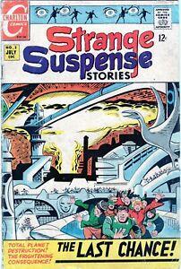 STRANGE SUSPENSE STORIES #2 LAST CHANCE PLANET! SILVER AGE CHARLTON COMICS 1968!