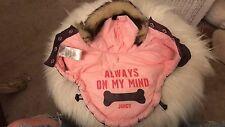 Juicy couture Dog Pet Parka Purple And Pink