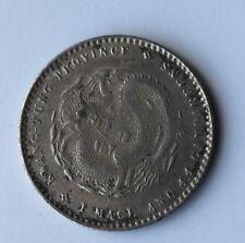 20 Cents KWANGTUNG  , Monnaie  CHINE En Argent