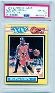 MICHAEL JORDAN 1989 Starting Lineup (One on One) SP Chicago Bulls NM-MT PSA 8