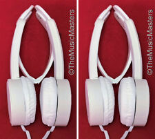2X Kids Folding On-ear Sport Style Wired Stereo Headphones Earphones Headset WHT