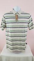 Patagonia 100% Organic Cotton Classic Fit Vtg Striped Men`s Polo Shirt Medium M