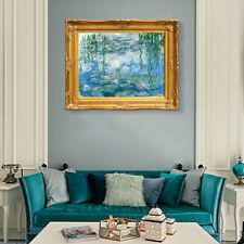 """20""""x24""""Framed Canvas Artwork,Water Lilies 1916-1919 by Claude Monet Giclee Print"""