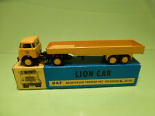 LION CAR 33 35 DAF 1500 TRUCK + TRAILER - DAF EINDHOVEN- YELLOW 1:50 - VG IN BOX