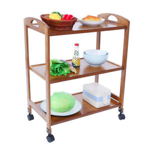 3-Tier Moveable Kitchen Trolley Rolling Storage Rack Organizer With Wheels ZL