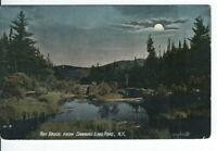 CI-150 NY, Adirondack Mtns, Ray Brook from Saranac Lake Road Div Bck Postcard