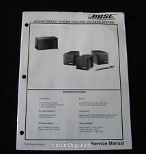 Original Bose Acoustimass 4 Home Theater Speaker System  Service Manual