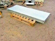 EX ARMY CORRUGATED STEEL ROOFING SHEETS  approx 6ft long x 2ft wide.very good