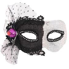 Navidad Fiesta De Halloween Máscara Carnaval - negro y Plata u25104