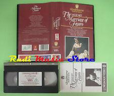VHS W.A.Mozart THE MARRIAGE OF FIGARO Le nozze Cherubino Hall (CL3) no cd dvd lp