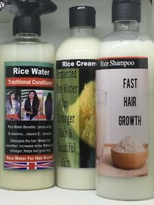 RICE WATER+RICE MASK+RICE SHAMPOO ARE MIRACLE TONIC FOR HAIR LOSS TREATMENT,