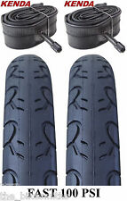 2 PACK KIT Kenda KWEST 100 PSI 26 x 1.25 Bike Tires & TUBES Fast Slick MTB City