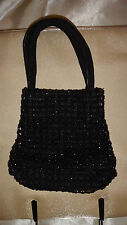 Gorgeous Dolcis Black Beaded Evening Bag Small