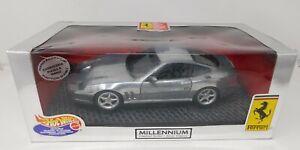 1/18 Mattel Hot Wheels Ferrari 550 Maranello in metallic silver # 25740 READ