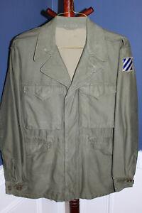 Choice Original WW2 U.S. Army M43 Field Combat Jacket, Size 40R w/3rd Army Patch