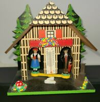 German Weather House with Black Forest Couple & Thermometer