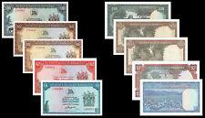 !COPY! RHODESIA 1,2,5,10 DOLLARS POST 1970 BANKNOTES !NOT REAL!!