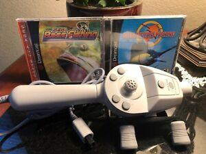 Sega Dreamcast Fishing Bundle: Bass & Marine Fishing Plus Fishing Rod Controller