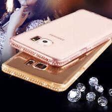 Bling Coque Housse Etui Diamant TPU Silicone Transparent Bumper Pour Samsung S8
