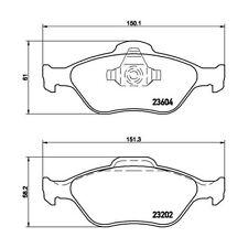 Ford 1521328 - Pasticche Anteriori ORIGINALI FORD per Fiesta IV-V Fusion Ka