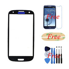 For Samsung Galaxy S3 i9300 Front Outer Glass Screen Lens Replacement Black
