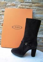 Tods Tod´s Gr 40  Stiefel Stiefeletten Plateau Boots Wildleder dark brown neu