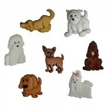 7 Cute Puppy Parade Dog Dress It Up Novelty Craft Buttons Embellishments