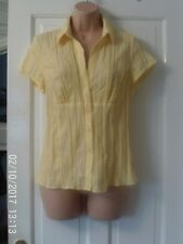 YELLOW SHORT SLEEVED BLOUSE BY DOROTHY PERKINS, SIZE 14