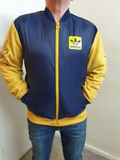 Adidas Originals Navy/yellow Bomber Jacket Size Large Fleece/shell