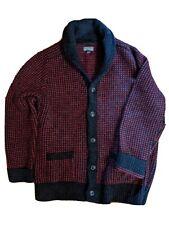 Ll Bean Signature Men's Wool Cardigan Xl Red