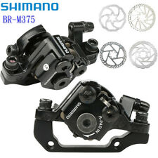 Shimano BR-M375 Mechanical Disc Brakes Caliper Front & Rear Calipers Black