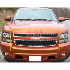 AAL Chevy Avalanche 07-12 Upper Black Steel Wire Mesh Grille With Silver Rivets