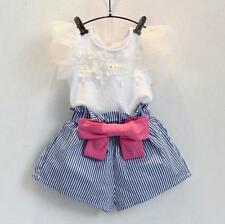 2PCS Child Kids Toddler Baby Girls Clothes T-shirt Tops+Shorts Pants Outfits Set